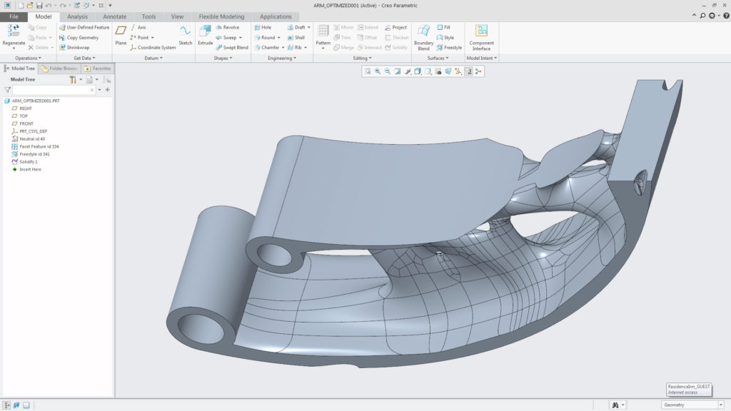 The system will skin the model using sub-D, Freestyle geometry, in order to give you a more readily usable model