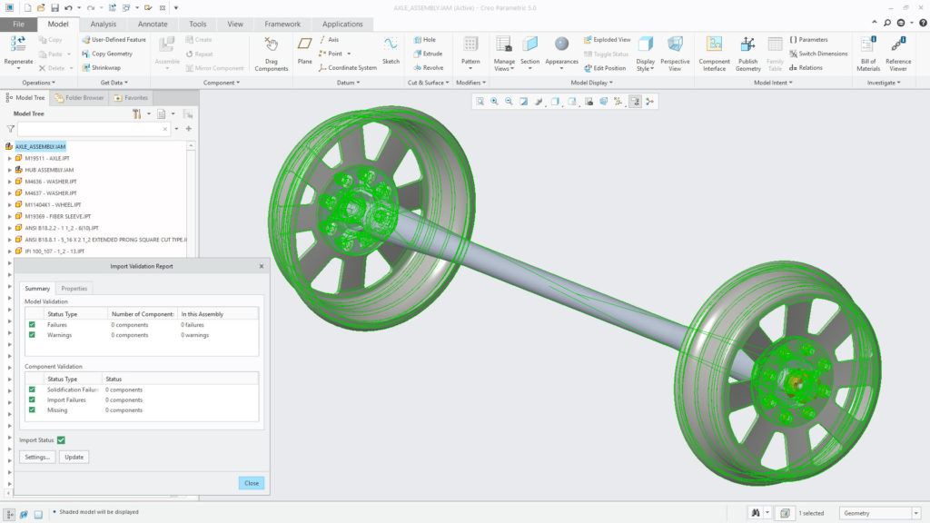 With Creo 5.0, you can now open and update Autodesk Inventor files, adding to Creo's robust Unite Technology multi-CAD capabilities.