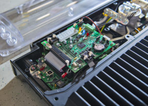 Detail of the electronic board implemented by Elemaster Group mounted on BMS (battery management system) for electric vehicles. (Courtesy of Giuseppe Valentino)