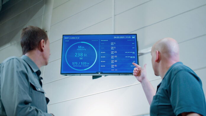 The EDNA Lifeline Dashboard was developed to specifically meet the requirements of MAT. Production planners, shift supervisors and machine operators always have the current production data in view.