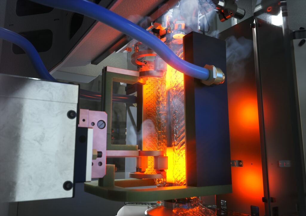 OP 40 - Induction hardening of bearing seats on a MIND L 1000 from EMAG eldec