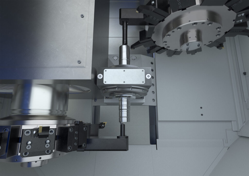 OP 50 - Internal turning of rotor shafts on a VTC 200 with center drive